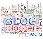 Blog word tags — Stock Photo