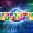 3d internet marketing — Stock Photo