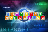 3d marketing na internet — Foto Stock