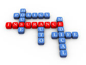 Crossword of insurance policy concept — Stok fotoğraf