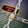 3d locked protected data — Stock Photo