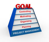 3d project management pyramid — Stock Photo