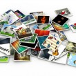 3d heap of images — Stock Photo