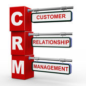 3d modern signboard of crm — Stock Photo