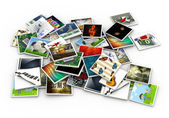 3d heap of images — Stockfoto