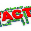 3d facts vs lies wordcloud — Stock Photo