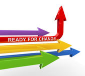 3d ready for change arrow — Stock Photo