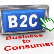 3d b2c - business to consumer button — Stock Photo #32244257
