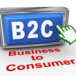 3d b2c - business to consumer button — Stock Photo
