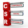 Stock Photo: 3d modern signboard of csr