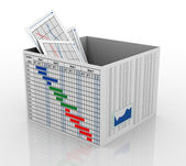 3d business chart in the box — Stock Photo