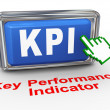 Stock Photo: 3d hand cursor - kpi button