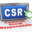 3d hand cursor - csr button — Stock Photo