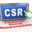 Stock Photo: 3d hand cursor - csr button