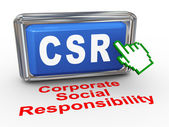 3d hand cursor - csr button — Foto de Stock