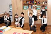 Children at school dance — Stock Photo