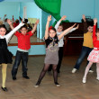 Stock Photo: Children dance and a dance hall