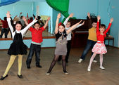 Children dance and a dance hall — Stock Photo