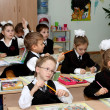 Children at school at a lesson — Stock Photo