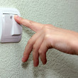 The forefinger presses the electric switch — Stock Photo #13604976