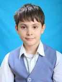 Portrait of the school student — Stock Photo