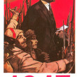 Soviet poster socialist revolution — Stock Photo