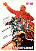 Soviet poster socialist revolution — Stock Photo