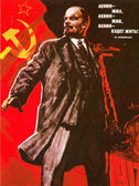 The poster with Lenin, times of the Soviet Union — Stock Photo