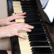 Hands of the pianist — Stock Photo