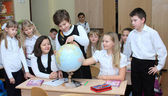 Rostov-on-Don, Russia, on March 6, 2014: children at a lesson at — Stock Photo