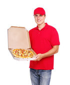 Pizza courier — Stock Photo