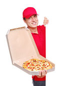 Pizza courier — Stockfoto