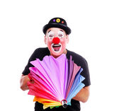 Clown with umbrella — Stockfoto