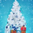 Foto Stock: Decorated christmas tree