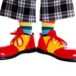 Clown shoes — Stock Photo