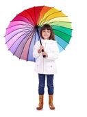 портрет девушки с зонтом — Стоковое фото