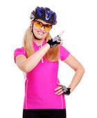Cyclist girl — Stock Photo