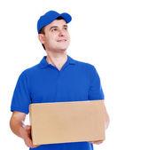 Courier en uniforme azul — Foto de Stock