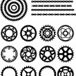 Stock Vector: Chain and gears of bicycle