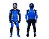 Motociclista Mostra di entrambi i lati su sfondo bianco — Foto Stock