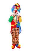 Boy clown shouting — Stock Photo