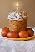 Easter.Easter Eggs .Сandle. — Foto Stock