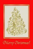 Christmas. Card. Blank. — Stock Photo