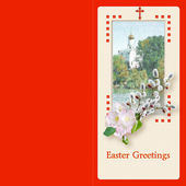 Easter.Blank. Template. Greeting card. Letter. — Stock Photo