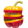 Bell pepper slices stack — Stock Photo