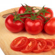 Fresh tomatoes and  tomatoes slices — Stock Photo