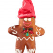Stock Photo: Ginger bread with red cap