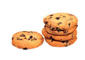 Stack of oatmeal cookies — Stock Photo