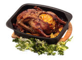 Grilled duck with orange — Stock Photo