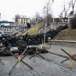 Evromaydin Kiev. Barricades in street Institutskaja. — Stock Photo #41675629